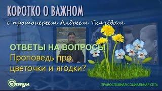 Проповедь про цветочки и ягодки или посерьезнее? Как предпочитаете? о. Андрей Ткачев