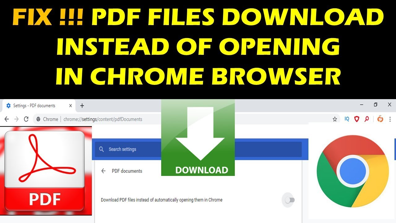 FIX!!!! PDF FILES DOWNLOAD INSTEAD OF OPENING IN CHROME BROWSER
