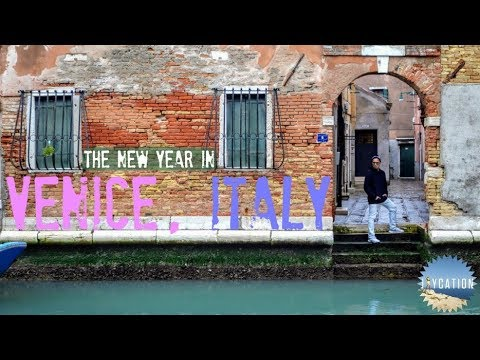 NEW YEAR in VENICE | 2018 ITALY TRAVEL VLOG 🇮🇹⛴🎉