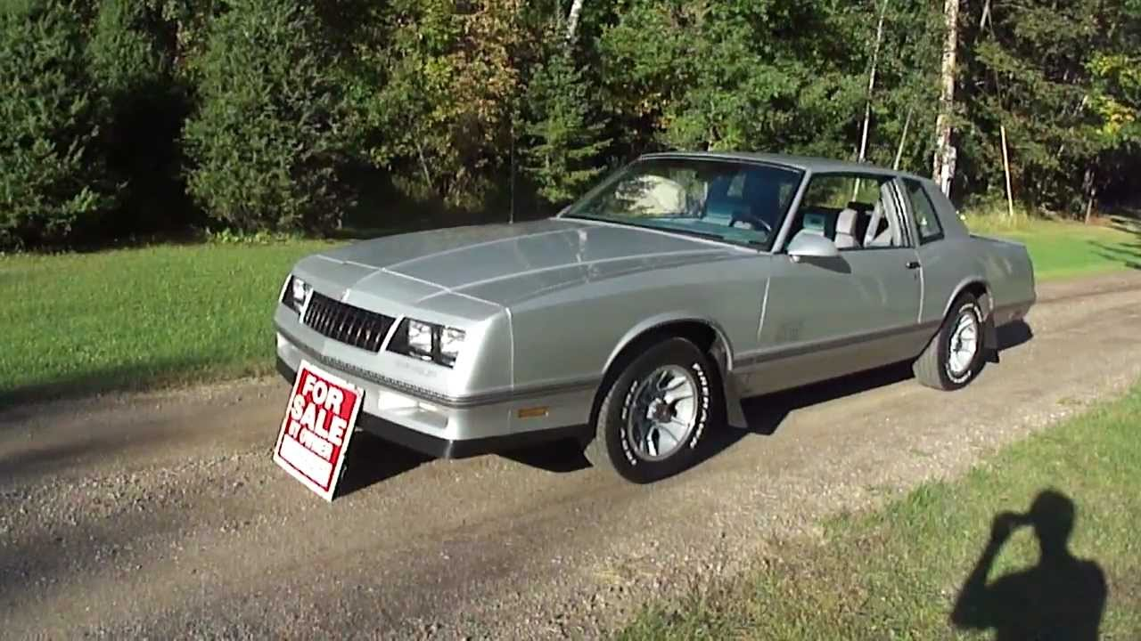 for sale 1988 monte carlo ss nice low miles 6500 obo sold youtube. Black Bedroom Furniture Sets. Home Design Ideas