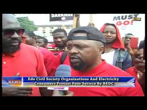ECSO and electricity consumers protest poor service by BEDC