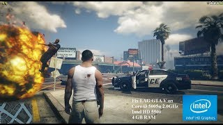 GTA V Fix Lag Core i3 5005u Intel HD 5500 4GB RAM