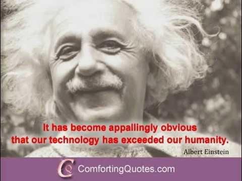 Albert Einstein Quotes About Technology Youtube