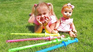 Color Song  Emma Pretend Play with Dolls Are you sleeping Brother  John