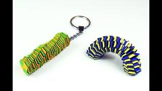 How to make a paper Slinky Keychain? (custom design)