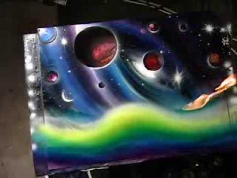 supernova by matt sorensen spray paint art space art youtube. Black Bedroom Furniture Sets. Home Design Ideas