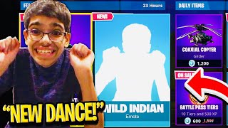Fortnite LEAKED my 'Wild Indian Dance' EMOTE To the ITEM SHOP!