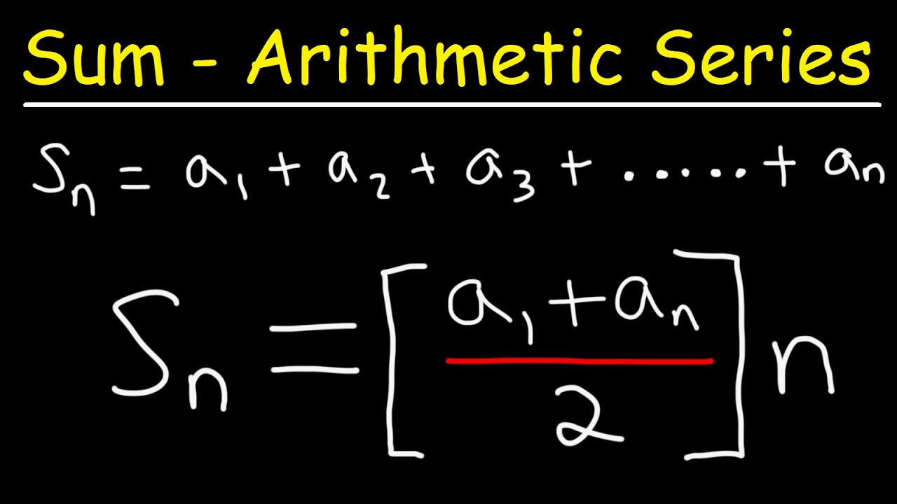 How To Derive The Formula For The Sum of an Arithmetic Series