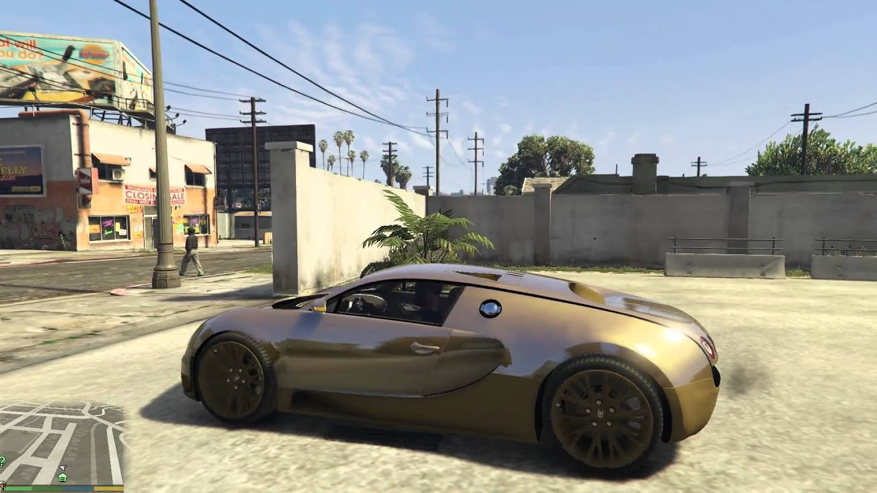 GTA V | PURE GOLD Bugatti Veyron Super Sport - YouTube