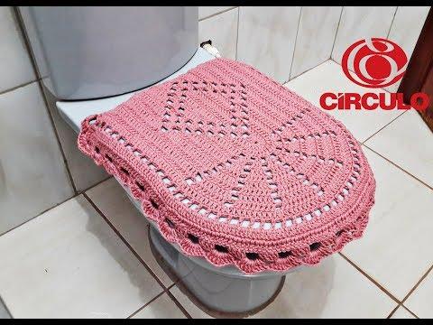 Jogo de Banheiro de Crochê Fácil - Tampa do Vaso