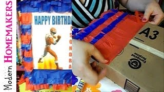 How To Make A Pinata With Cardboard