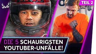 Die 5 SCHAURIGSTEN YouTuber-Unfälle! - Teil 2 | TOP 5