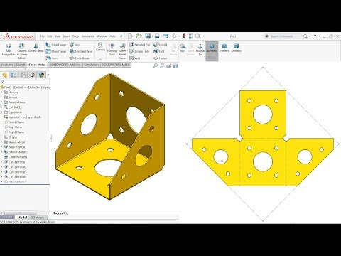 Introduction To Sheet Metal Design In Solidworks Doovi