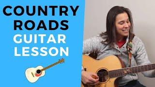 John Denver Country Roads Guitar Lesson FINGERSTYLE