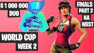 Fortnite World Cup WEEK 2 Highlights - Final Part 2 NA West DUO [Fortnite Tournament 2019]