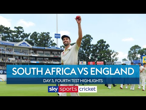 Mark Wood takes five-for as England build lead | South Africa v England | Day 3, 4th Test Highlights