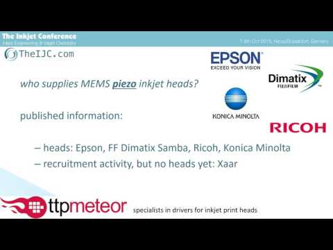 TheIJC 2015: MEMS Printheads - Unlocking the Potential