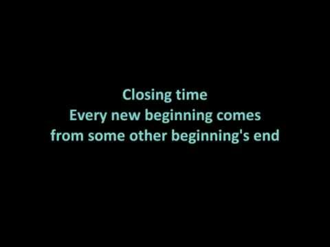 Semisonic Closing time lyrics