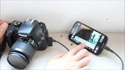 Handy als externes Display für Kamera nutzen/ DSLR Controller