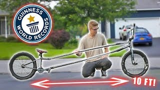 THE WORLD39;S LONGEST BMX BIKE