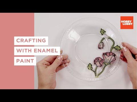 Crafting With Enamel Paint Hobby Lobby Youtube