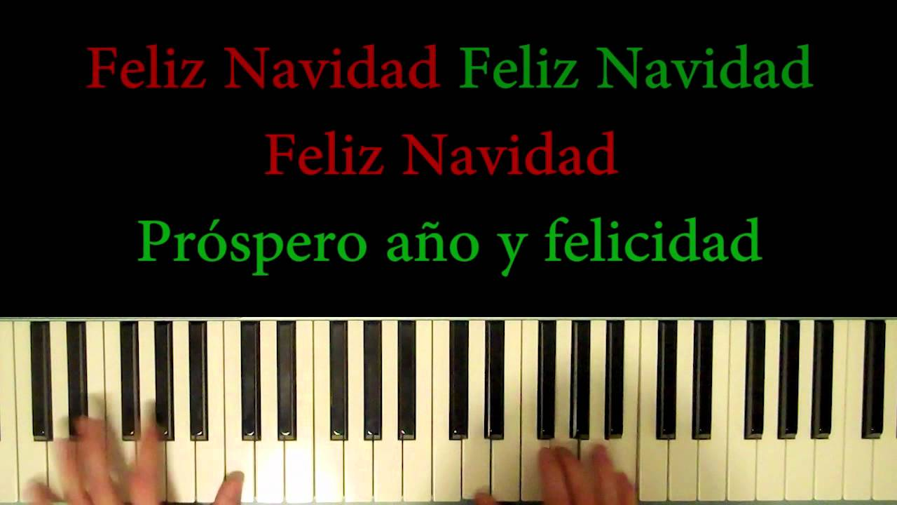 How to play: Feliz Navidad (Merry Christmas) (Piano and ...