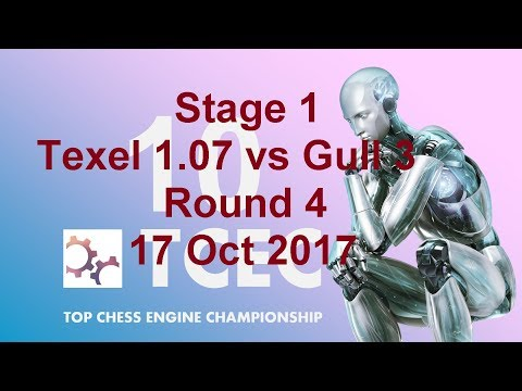 TCEC S10 The Stubbornness of Chess Engines: Texel 1.07 vs Gull 3 Stage 1 Rd4 2017