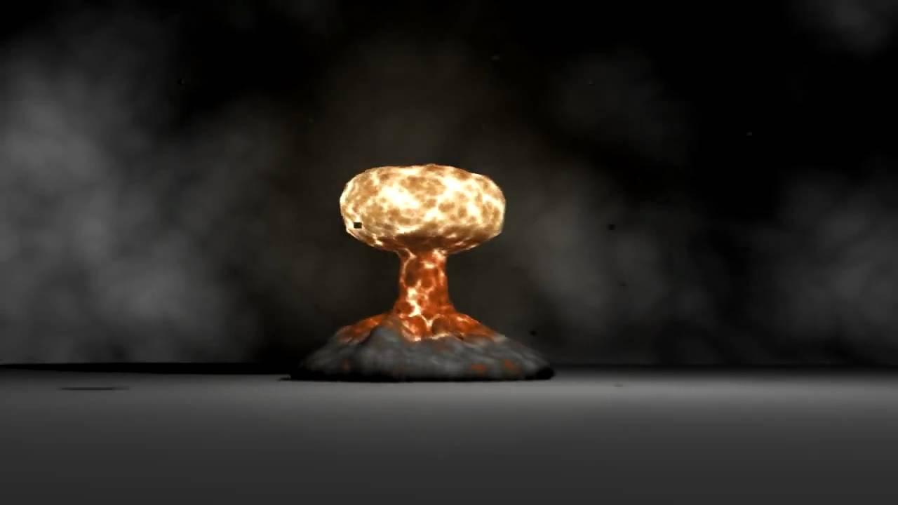 Mushroom Cloud Explosion. 3DS Max 2009 Fire Ball