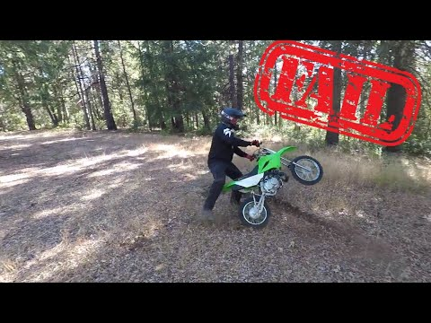 KLX 110 Riding and Falling on Private Property