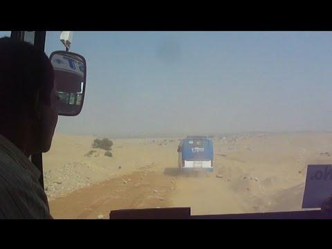 HUMANLESS ROAD  TO TANOT MATA TEMPLE THROUGH THAR DESERT , - Jaisalmer Tourism - Rajasthan - India