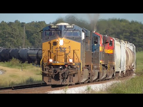 [3d] Trains Under the Blue Sky: Keep 'em Rolling, CSX! Carlton - Winder, GA, 09/20-23/2016 ©mbmars01