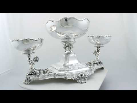 Sterling Silver Centrepiece Bowls by Horace Woodward & Co Ltd - Antique - AC Silver (A8216)