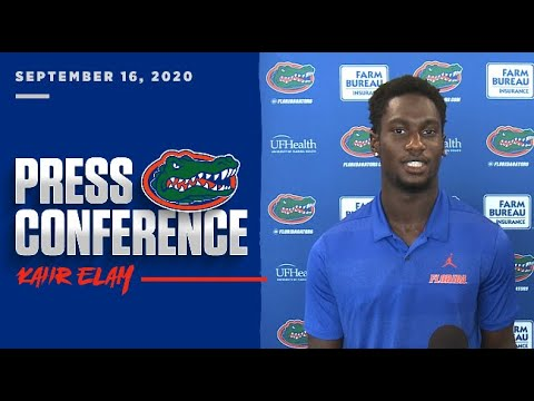 Florida Football: Kaiir Elam Press Conference 9-16-20