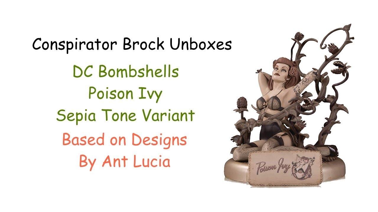 Dc Bombshells Variant Statue Poison Ivy Sepia Tone