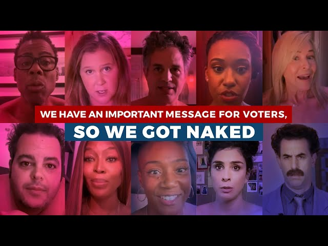 These Naked Celebs Have an Important Message for Voters