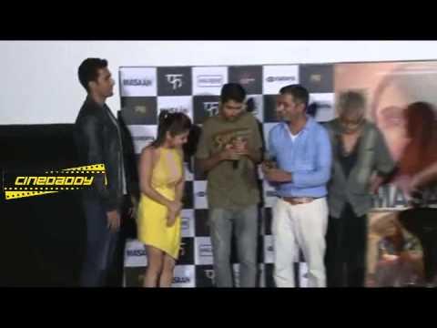 Download Richa Chadda, Sanjay Mishra, Vicky Kaushal, Shweta Tripathi @ Masaan Official Trailer LAUNCH 1!