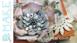 Upcycled Soda Cans -Vintage Metal Flowers - Spellbinders Mixed Media