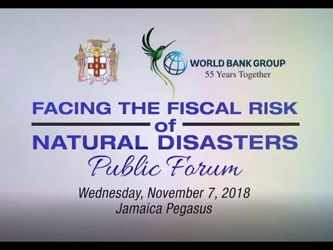 Disaster Risk Financing Forum: Facing the Fiscal Risk of Natural Disasters (Part 1) -