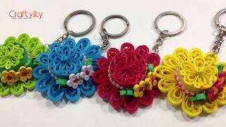 DIY Quilling Hat Keychain | How to make Quilling Hat Keychain | Quilling Hats | Quilling Keychains
