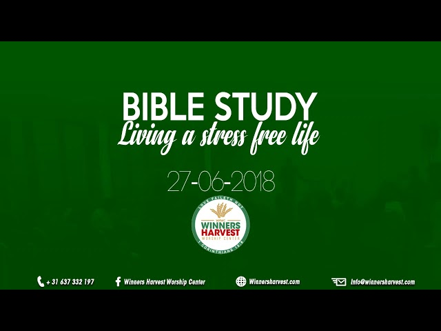 Living a stress free life - 27-06-2018