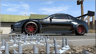BeamNG Drive High Speed Realistic Spike Strip Police chases and Crashes #1