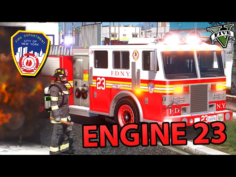 [GTA 5] FDNY - Engine 23 responding | Rescue #1