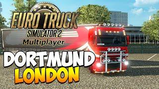 Euro Truck Simulator 2 Multiplayer (ETS 2) | ПИЛОТИРУЕМЫЙ-КОНВОЙ Dortmund ► London