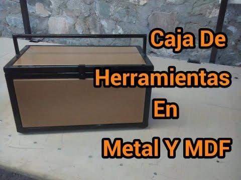 Caja De Herramintas En Metal Y MDF