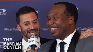 Jimmy Kimmel and Roy Wood Jr on the 2017 Mark Twain Prize Red Carpet