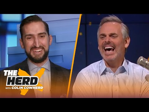 Nick Wright loses Bills bet to Colin; talks Brady's potential 10th Super Bowl & Kyrie | THE HERD