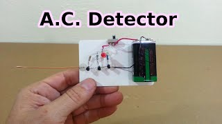 AC Line and Neutral Detector without Contact