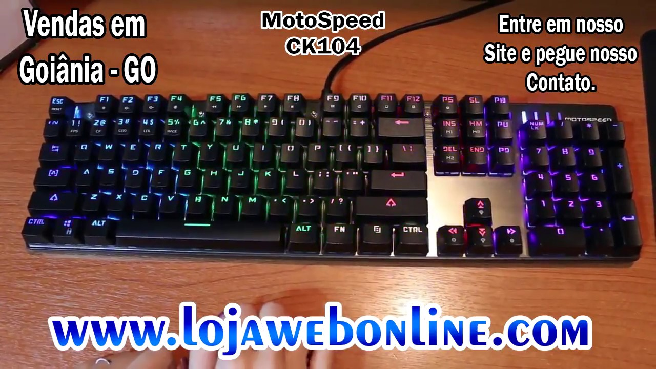 eba4d89ae Review MotoSpeed Ck104 Teclado Gamer Mecânico - Loja Web Online ...