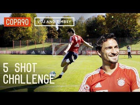 5 Shot Challenge With Mats Hummels! Ft. Timbsy And Vuj