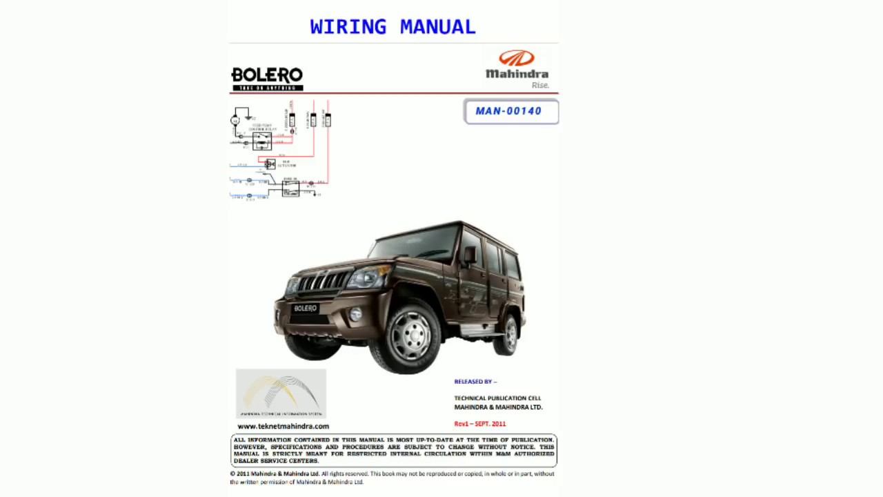 Mahindra Wiring Diagrams | Wiring Diagram on